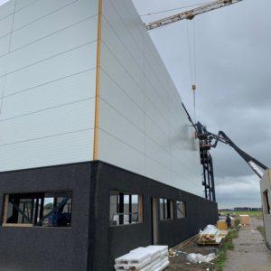 Nieuwbouw bedrijfspand las- en constructiewerk